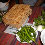 Sangak - a persian bread, Cheese and Herbs (my favorite!)