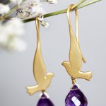 Singing bird earrings - Lakoo Designs